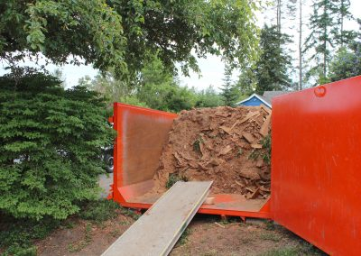 Wood waste removal courtesy of Contain-A-Way